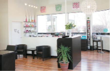 The boutique area offers an array of beauty brands