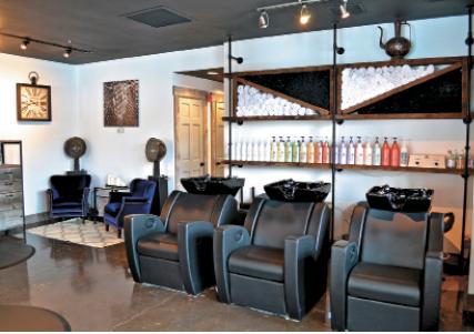 The shampoo area