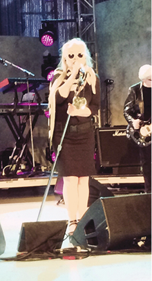 singer Blondie closed the event with a performance