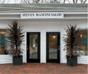 The salon exterior is inviting