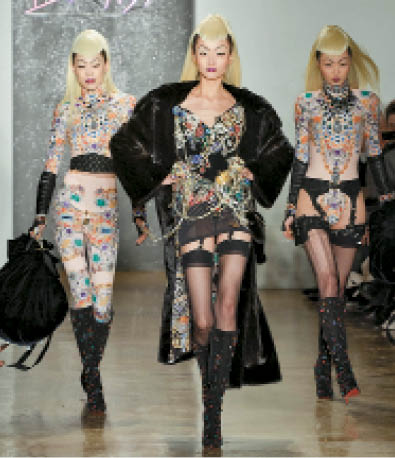 The Blonds: At The Blonds New York show, the theme was Catwoman meets Bettie Page.