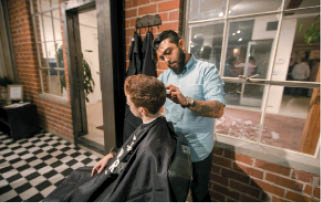 Blind Barber's staff provides grooming services