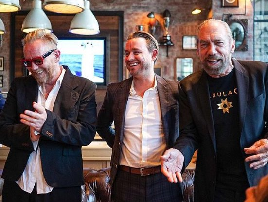 Robert Cromeans, Jason Yates, JPMS VP of Sales and Marketing, and John Paul DeJoria