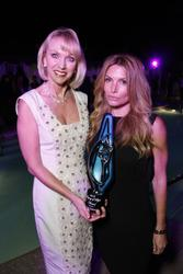 Eden Sassoon and Lynelle: 2012 Beauty Changes Lives Legacy Award honoring Vidal Sassoon From left:  Lynelle Lynch, BCL President, Eden Sassoon, accepting on behalf of her father, Vidal Sassoon