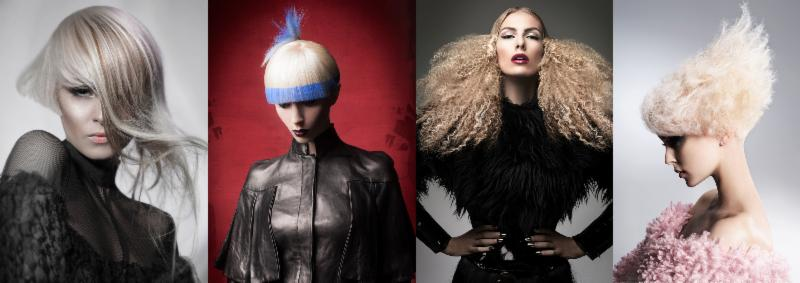 Courtesy of PBA: NAHA 2014 winners from left to right: Anna Pacitto (Master Hairstylist of the Year), Van Michael Salons (Salon Team), Dilek Onur-Taylor (jcp salon) and Alain Pereque (Hairstylist of the Year).