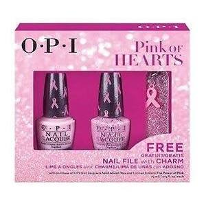OPI Pink of Hearts Duo. OPI will dontate  $25,000 to Susan G. Komen and $5, 000 to Rethink Breast Cancer in Canada.
