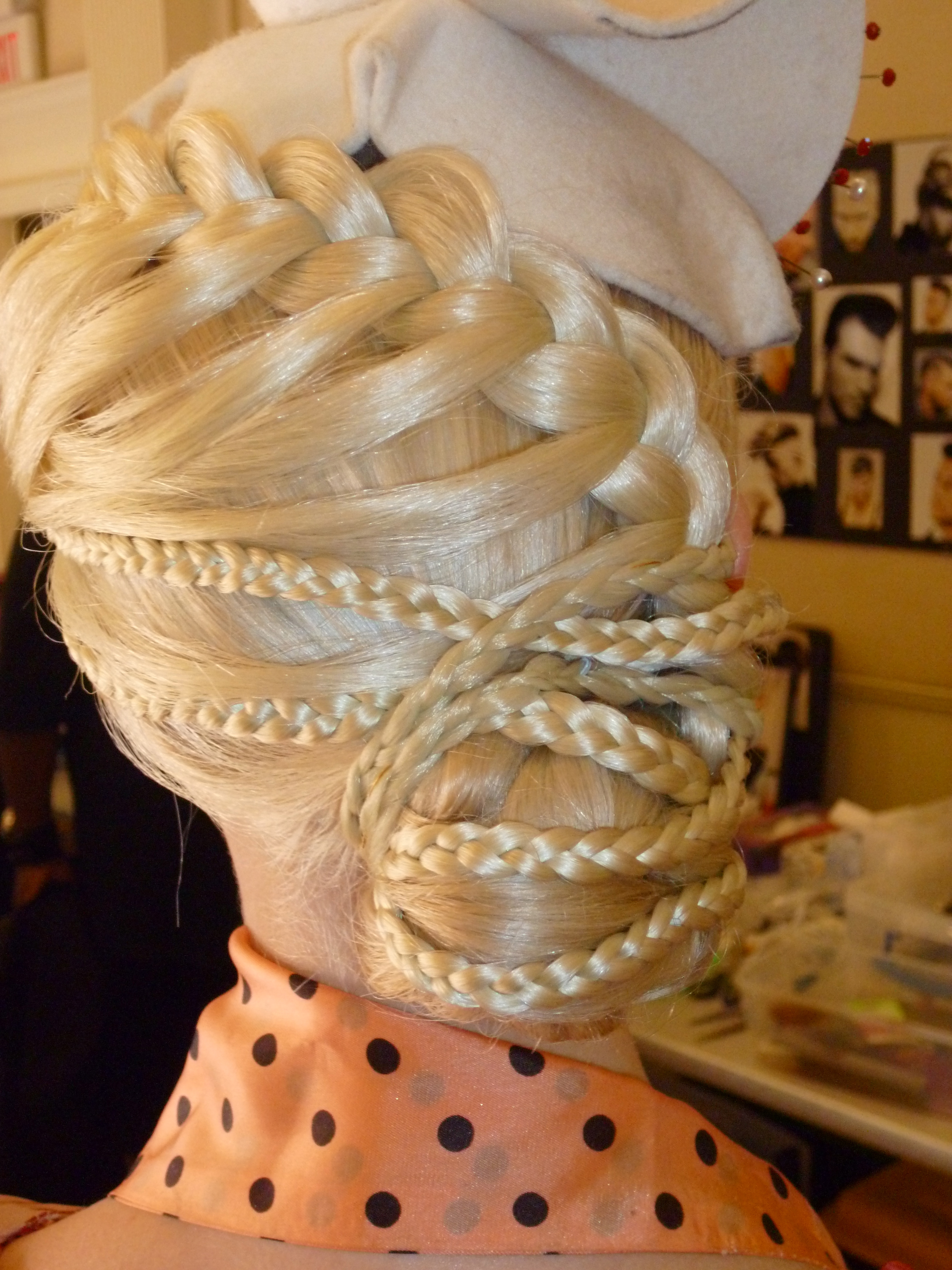 Braided Back of the Wig