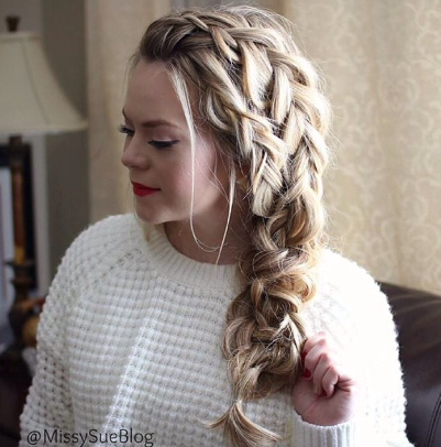 Double dutch braid by @missysueblog