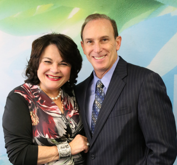 Lydia Sarfati and Dr. Samuel Shatkin Jr.