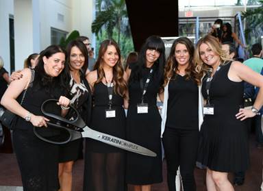 Keratin Complex's Lindsay Solomon, Laurie Bateman, Jessica Giummule, Leighanne Harman, Kelly Mathews, & Danielle Franklin (L-R)