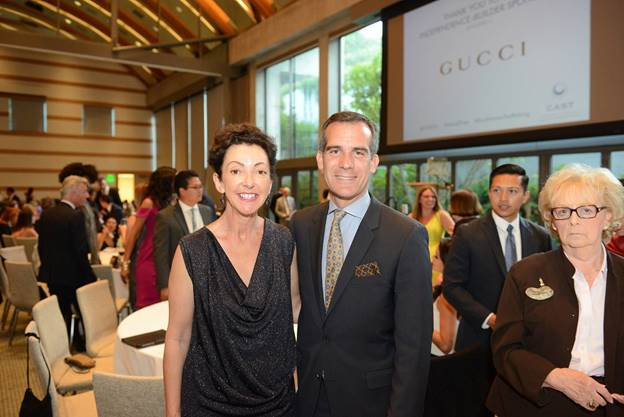 Jane Wurwand and Mayor Eric Garcetti