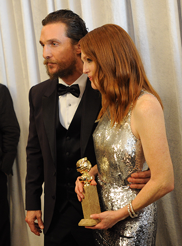 Julianne Moore and Matthew McConaughey - Courtesy of GoldenGlobes.com