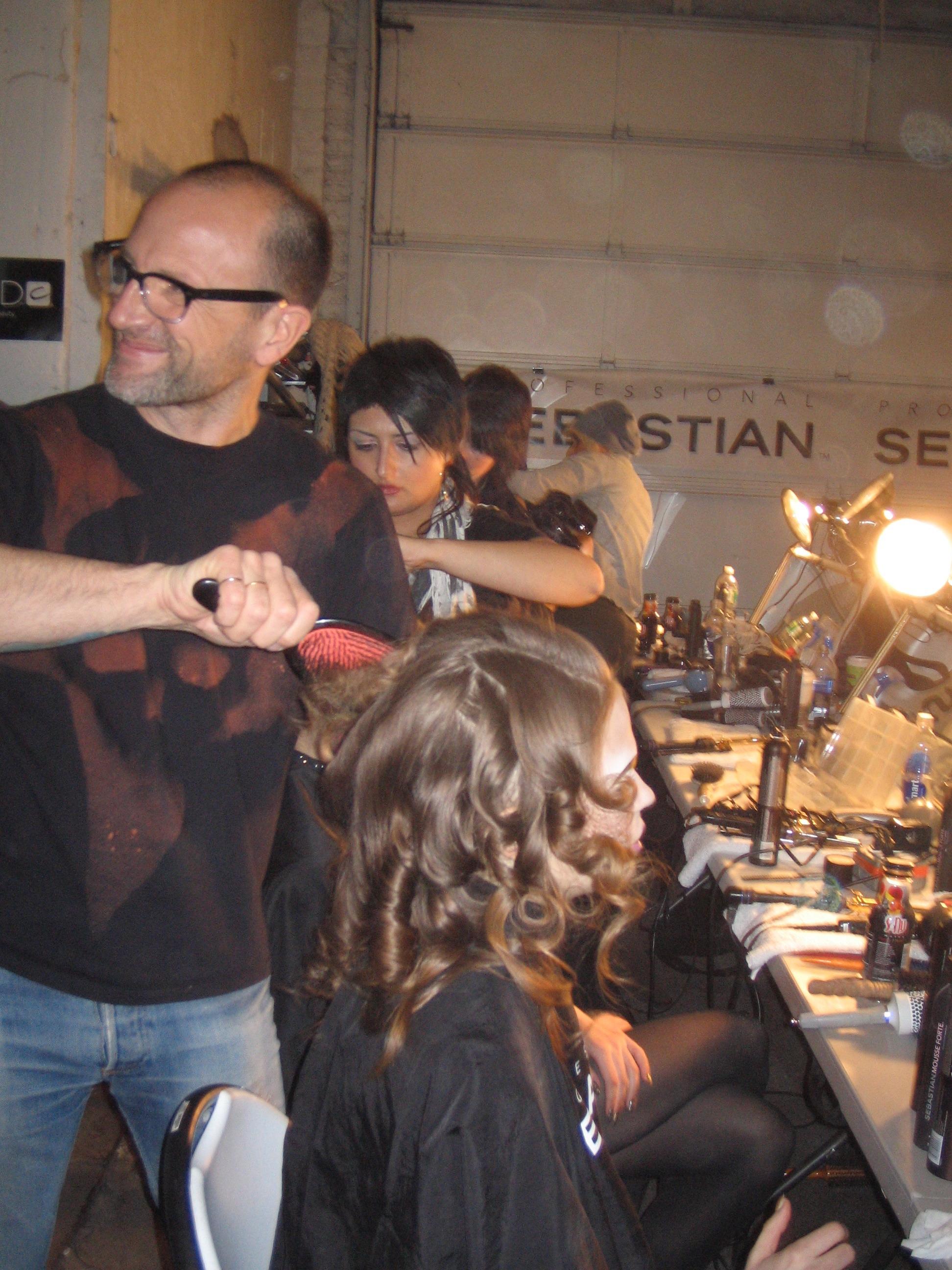 Lead hairstylist for Sebastian Professional Thomas Dunkin