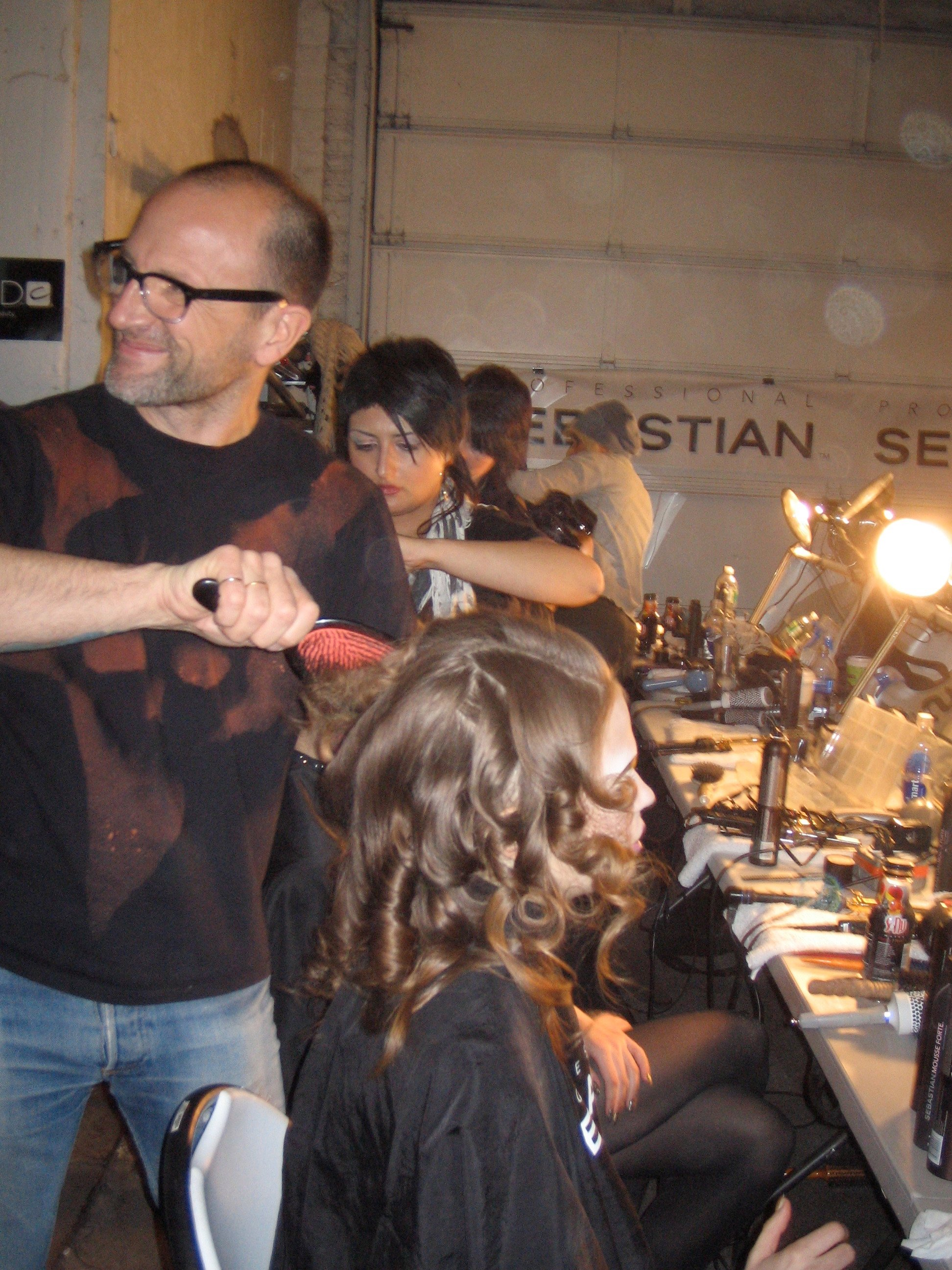 Lead hairstylist for Sebastian Professional Thomas Dunkin