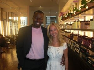 Me with Ted Gibson after MY hair makeover last summer
