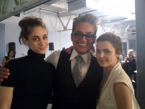 Oribe flanked by actress friends Keri Russell (right) and Andi Potamkin (left)