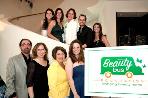 The Beauty Bus team poses for the camera after a successful event.