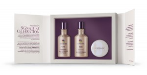 Offer clients one of Pureology's holiday gift sets, such as The NanoWorks Hostess Gift seen here.