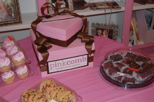 Attendees indulged in some sweet treats in addition to hair and makeup services at the Combs for a Cure event.