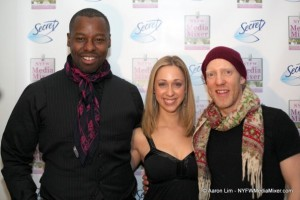 Posing with Ted Gibson and Jason Backe at the NYFW Media Mixer