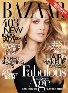 drew barrymore on harper's bazaar
