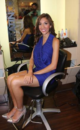 Farah Abraham from Teen Mom attends the Keratin Complex Pop Up Salon on September 9, 2013 in New York City.