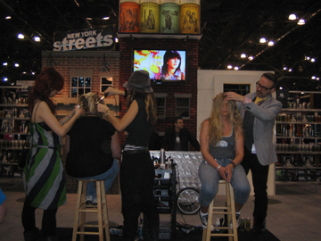 The New York Streets booth was fun, urban and hip.