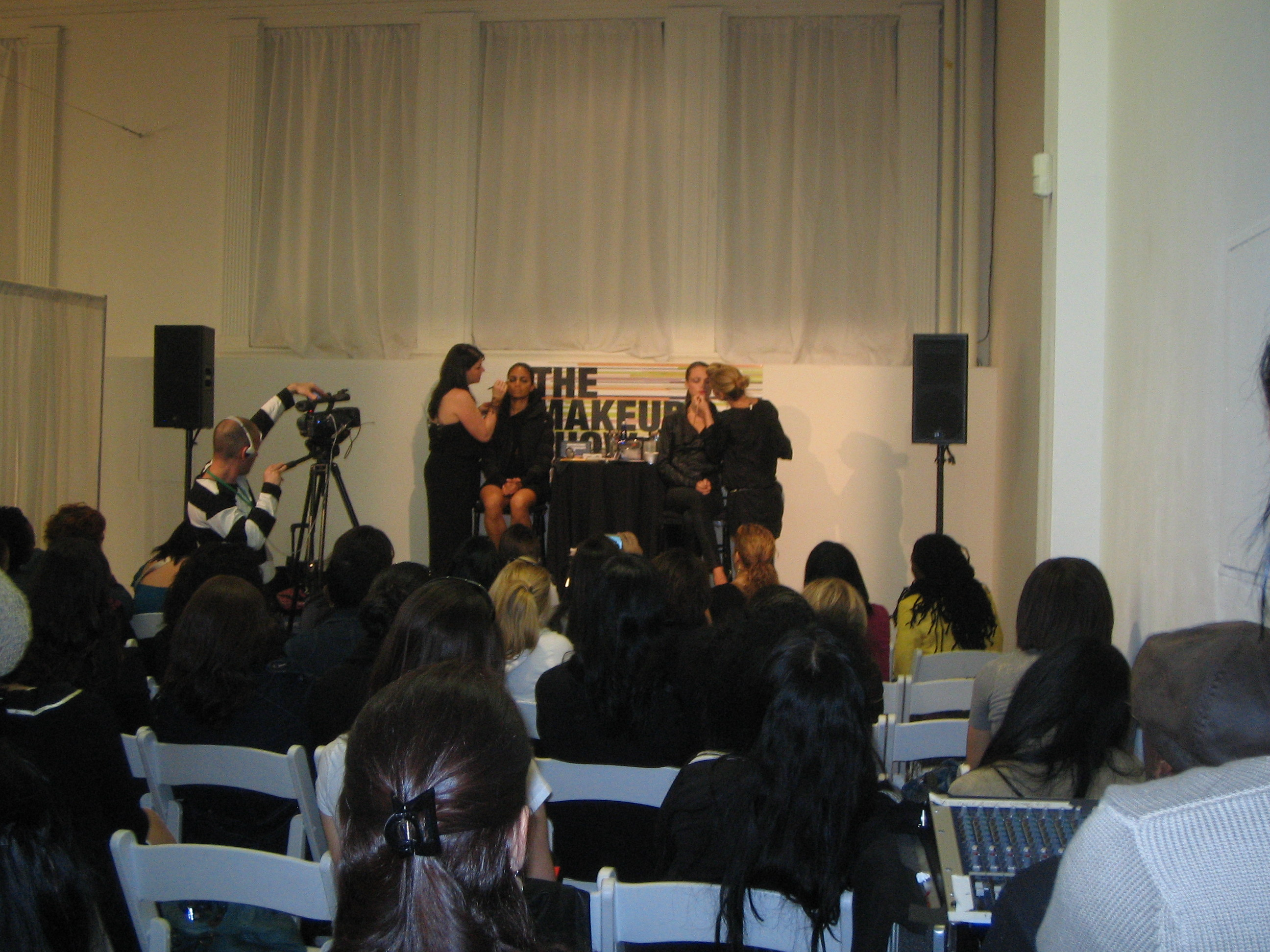 M.A.C's Keri Blair and Chantel Miller at the runway trends seminar