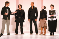 The Aveda Flow collection team's (from left) Peter Gray, Brandon Darragh, Rudy Miles, Ana-Marie Rizzieri and Ana Karzis
