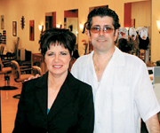 Maria and John Scarduzio in their new salon space.