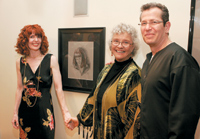 My mom, artist Martha Talburt (center), with Salon St. Louis' Marie Harrison and Profound's Bob Salem