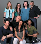 The Cover Shoot Creative Team, back row: Ande Campbell, Lynn Serra, Robbin McClain, Enrico Vesce; front row: Ted Davis, Serge Normant, Marie Bariller, Elie Maalouf.