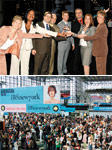 Top: IBS New York and American Spa Expo Show team members celebrating their win for Best Industry Event at the Stylists Choice Awards. Below: Opening day at IBS New York 2005