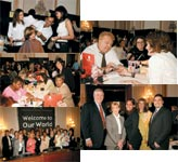 TOP RIGHT: Stylist Andre Chreky; CENTER: Congresswoman Eddie Bernice Johnson(right) enjoys a manicure; BELOW RIGHT: The JCPenny Salons team; TOP LEFT: American Association of Cosmetology Schools; Anthony Fragomeni; BELOW LEFT: Congresswoman Carolyn McCarthy (second from left) with Frank Schoeneman, Cherise Pinkney, Janice Dorian and Sal Pappacoda