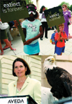 CLOCKWISE, FROM ABOVE LEFT: Representative Betty McCollum; an enthusiastic show of youthful support; the American bald eagle owes its survival to the Endangered Species Act.