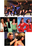 CLOCKWISE FROM TOP: Models take a walk on the wild side; cutting-edge hair was the star of the Future Professional segment; Robert Cromeans demonstrates his cutting prowess; Eloise, John Anthony, John Paul and Michaeline DeJoria are all smiles at the show.