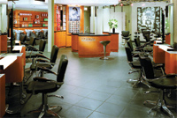 The custom-designed L'Oréal Professionnel color consultation center is the focal point of the Antonino Salon.