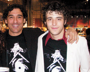 Sam Brocato and his son, Gianni, sport commemorative NCA Disaster Relief Fund/ Katrina T-shirts