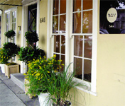 A former private home in West Hollywood, the B2V salon has a cozy, welcoming atmosphere, inside and out.