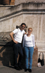 Our publisher, Brett Vinovich, and me in Italy 10 years ago