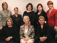 TOP ROW, FROM LEFT: Joico's Sara Jones, Ecru-Avance's Dee DeLuca Mattos, Repêchage's Lydia Sarfati, Sally Beauty's Susan Walker, Redken's Ann Mincey; BOTTOM ROW, FROM LEFT: PureOlogy's Cheryl Markham, NCA'S Marlene Bridge, Matrix's Brooke Carlson