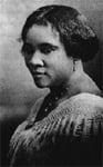 A self-made businesswoman, Madame C. J. Walker was born Sarah Breedlove.