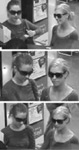 The Barbie Bandits in trademark shades caught on surveillance tape.