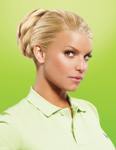 Jessica Simpson sports HairDo clip-in extensions.