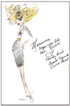 A sketch by Charlie Price and Antonio Toquinto of their Gwen doll makeover