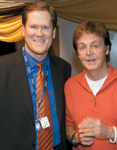 With Paul McCartney at the Grammy Awards