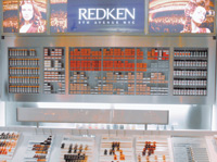 The salon features the first Redken Lab in the area, where clients can see color swatches and choose haircolor.