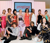 Joico gave all the models trendy prom styles while Macy's provided the dresses.