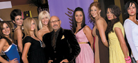 Richard Calcasola, creative director of Profound Beauty, poses with models at the Hope House event.