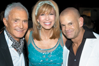 From left: Vidal Sassoon, Leeza Gibbons and Winn Claybaugh